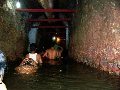 Inside the cave- enroute to the Narasimha idol