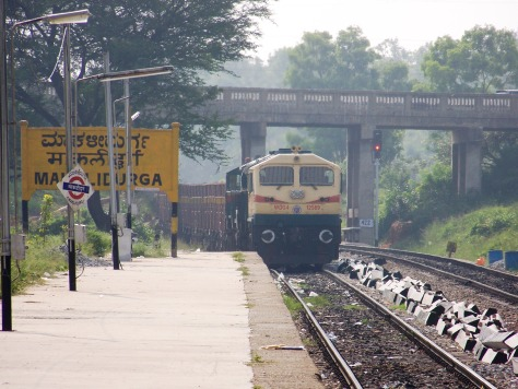 The Makalidurga railway crossing