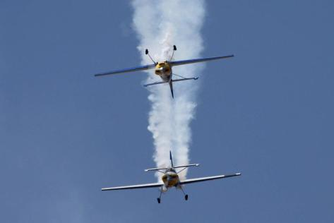 The 'Mirror Image' formation by the Flying Bulls