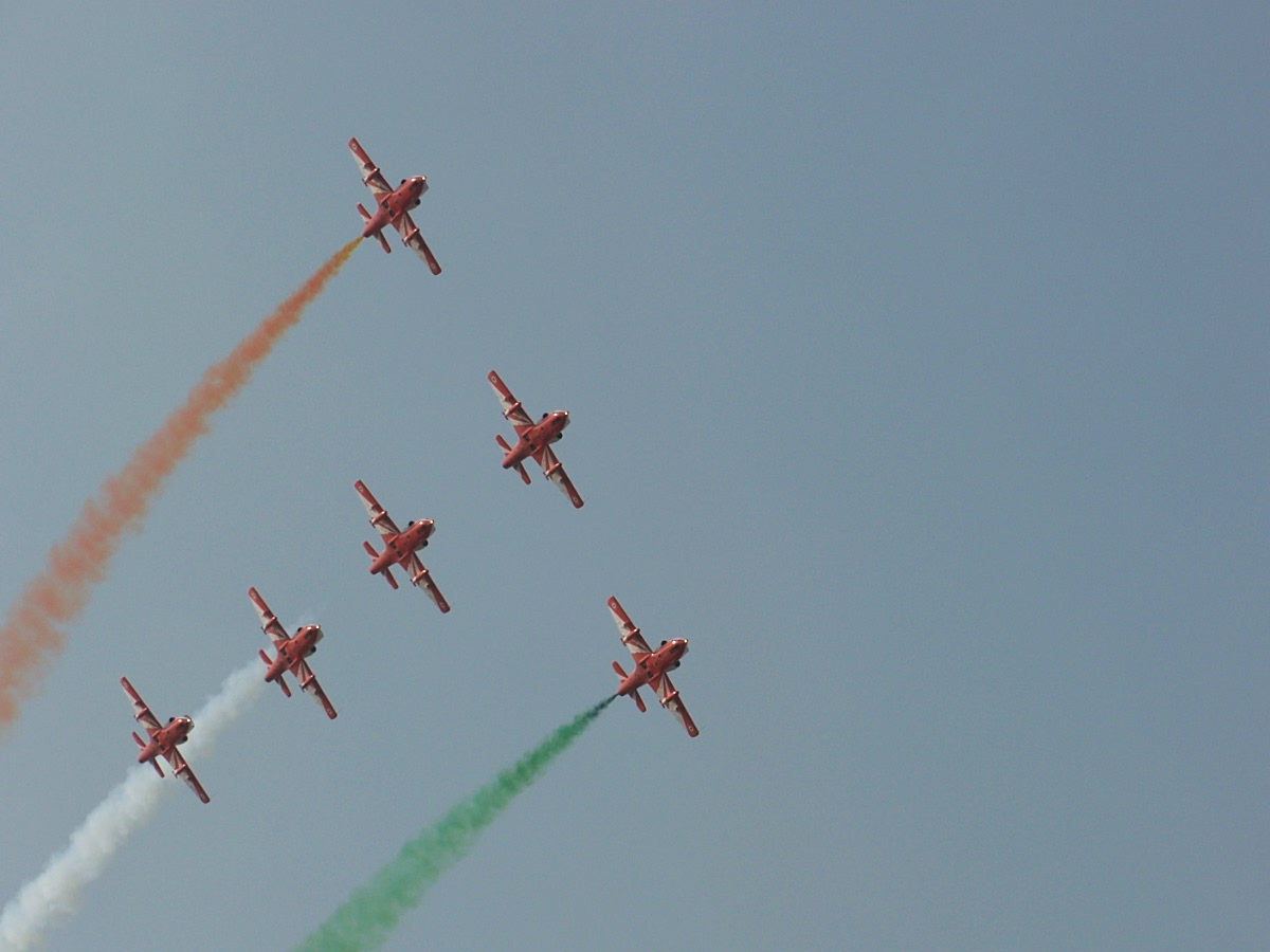 The 'Tango' formation by the Suryakirans