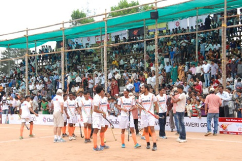 The Indian hockey team during the opening match