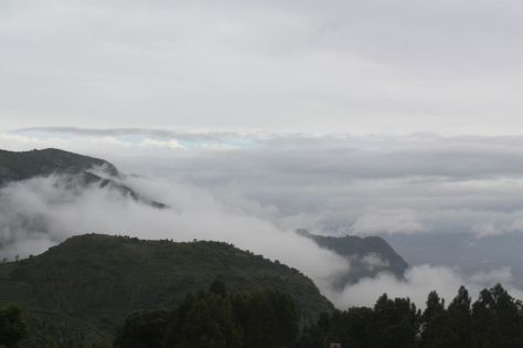 A view of the valley from one of the hairpin bends of Ooty