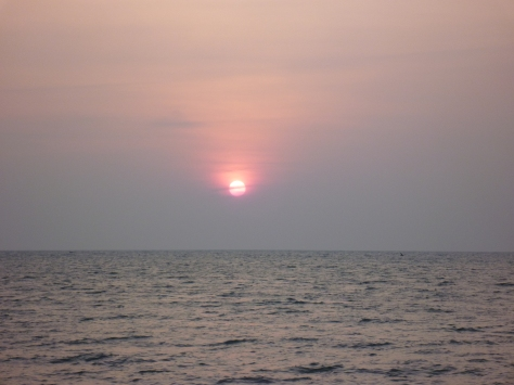 Sunrise viewed from Agnitheertham beach