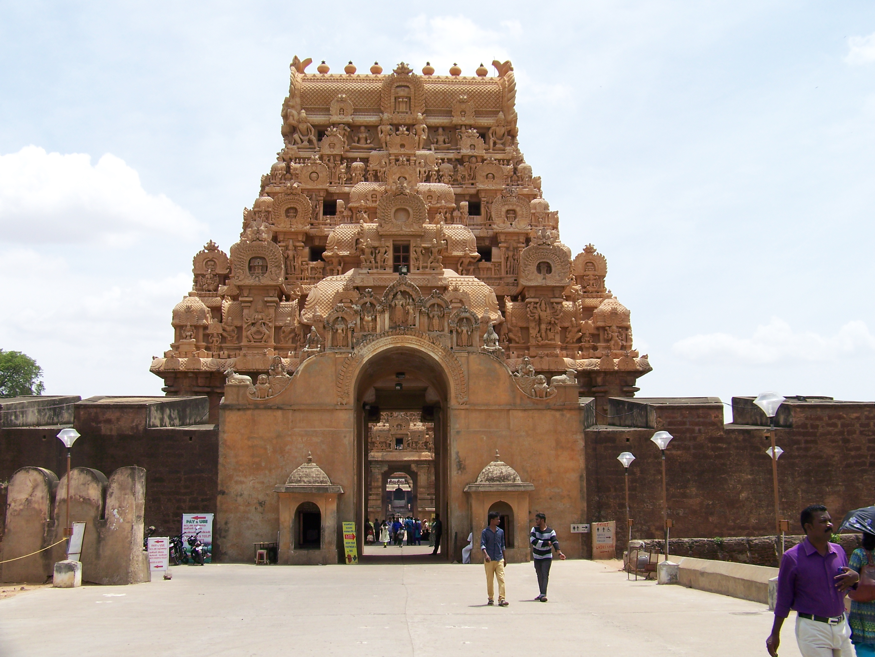 The entrance at the Brihadeesvaran temple