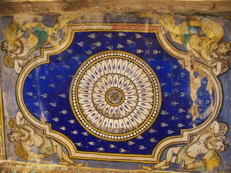 The Tanjavur paintings adorning one of the roofs