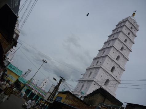 One of the 5 minarets at the Nagore dargah