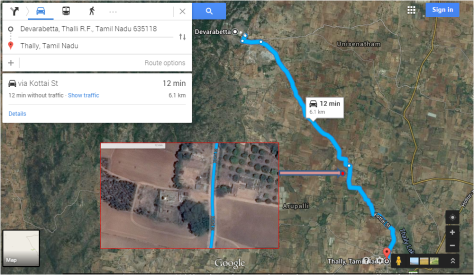 The forgotten Chola temple- Google maps