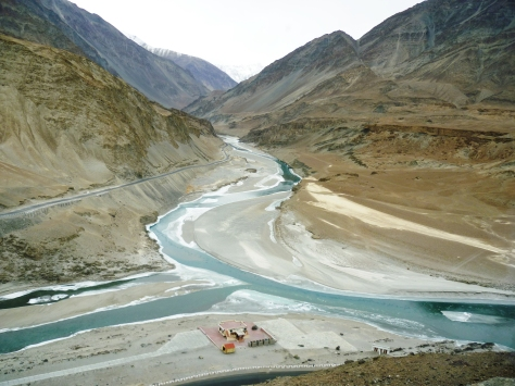 The confluence of the Indus and the Zanskar