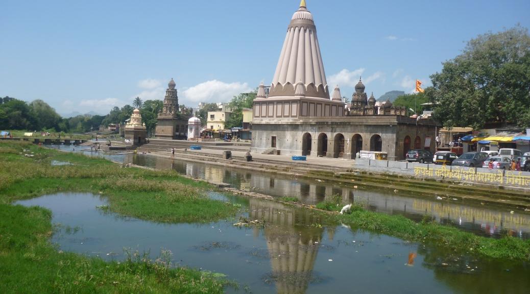 Wai ghat on the banks of river Krishna at Menavali village