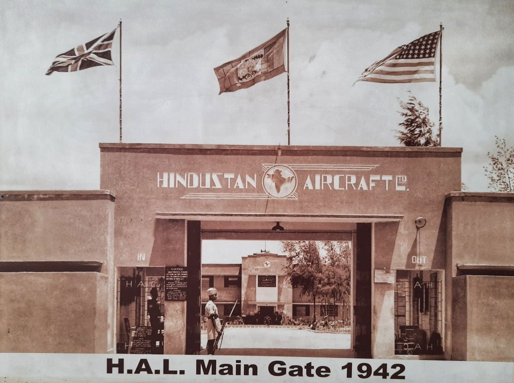 A 1942 file photo of the HAL main gate