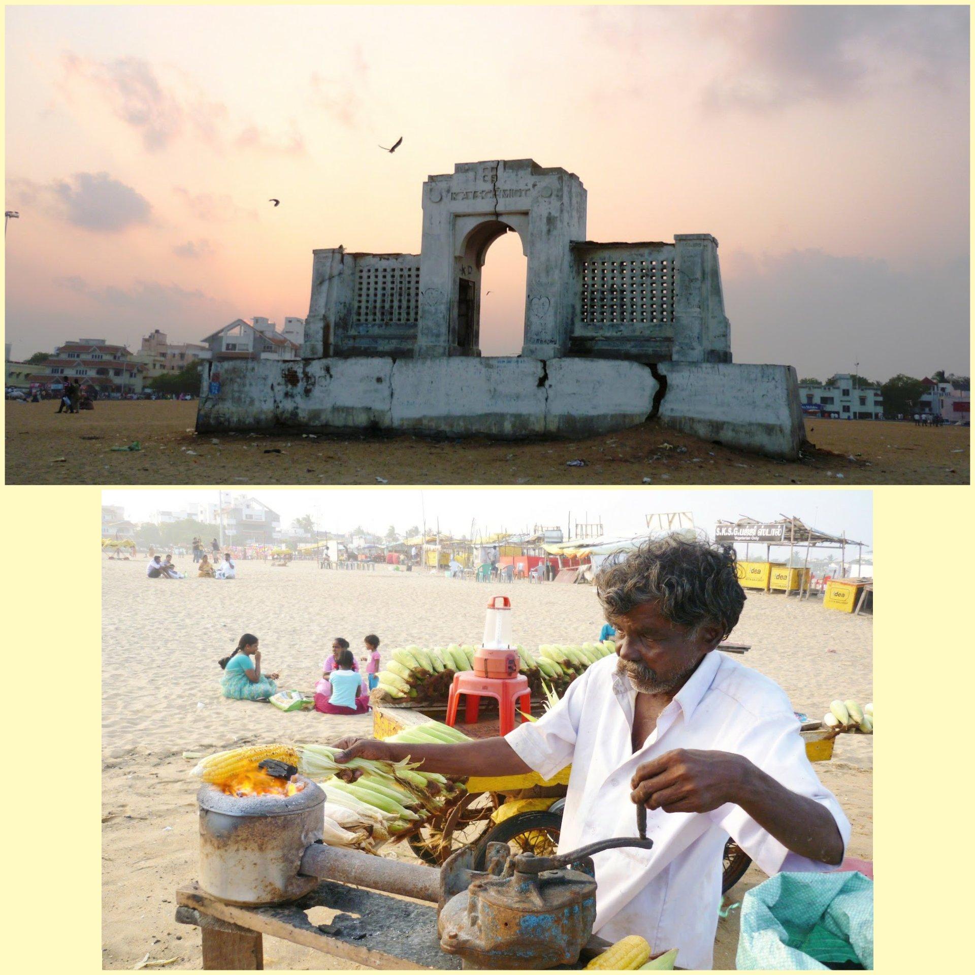 Besantnagar beach in Chennai