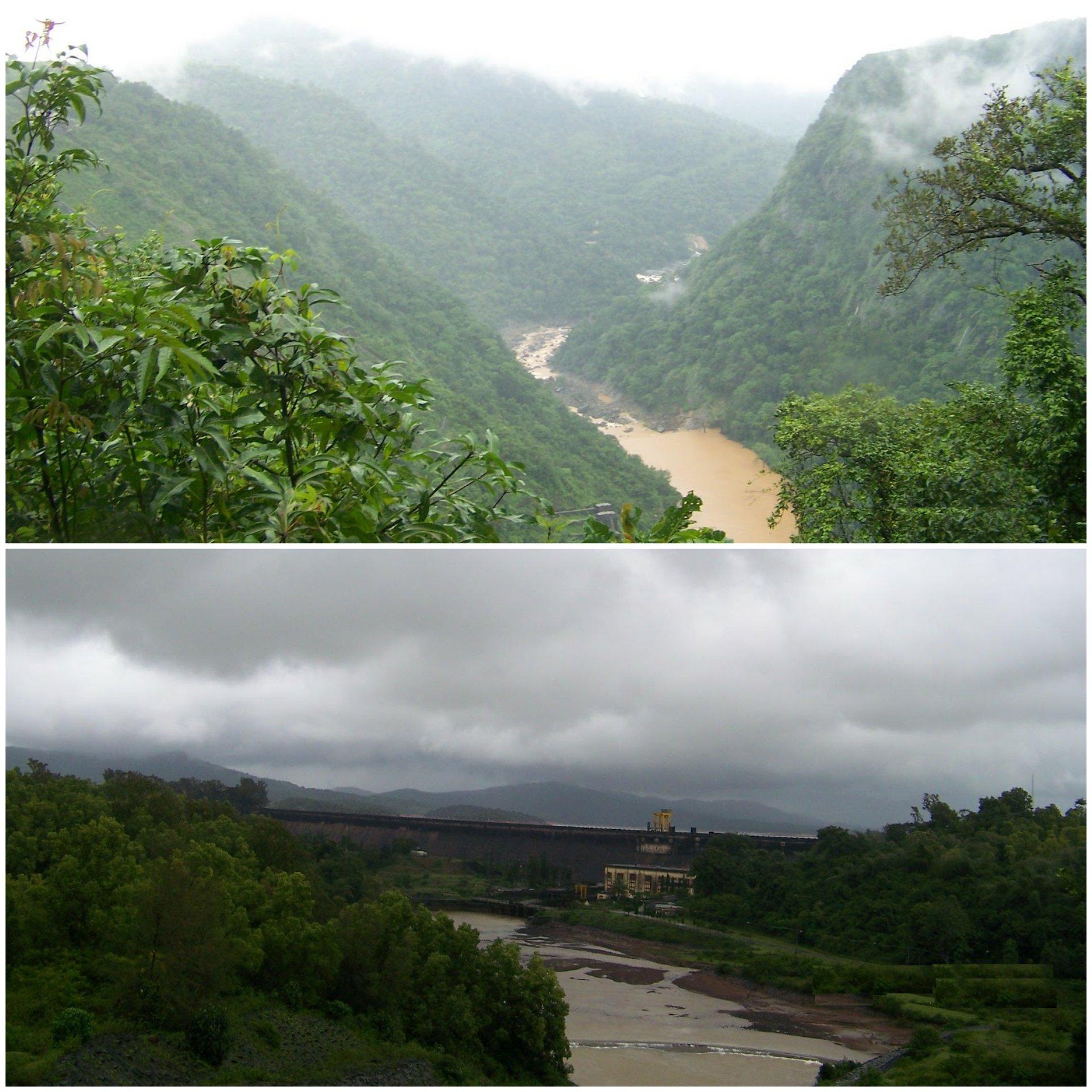 Views of the Sharavati project around Jog falls