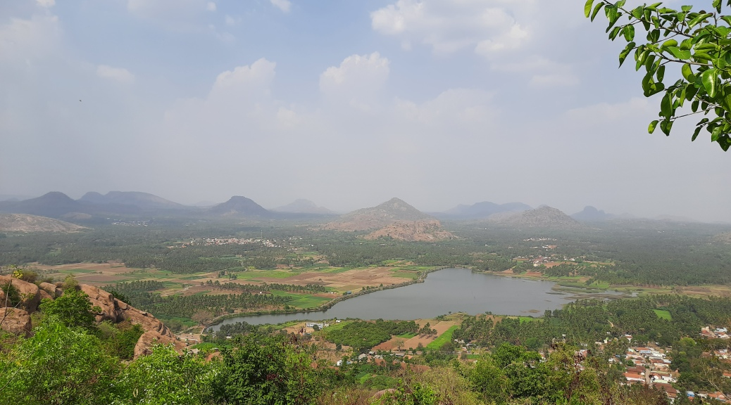 View of the village from the temple porch of Gavi Ranganatha Swamy temple